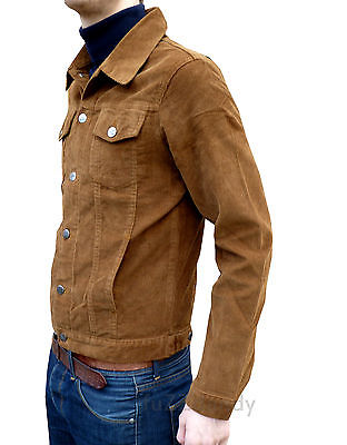 Fitted Corduroy Cord Jacket - Ginger Tobacco Brown